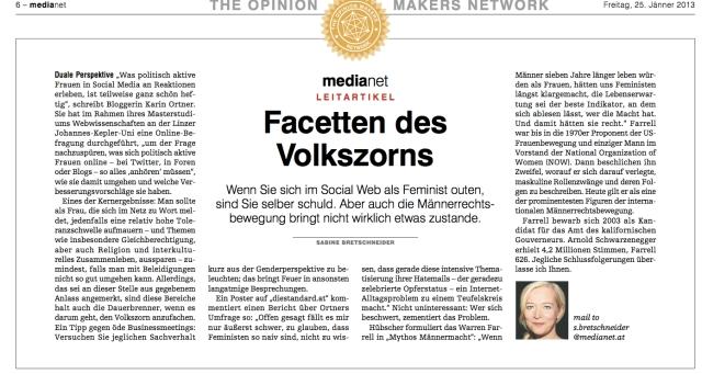 Leitartikel in media.net / Jänner